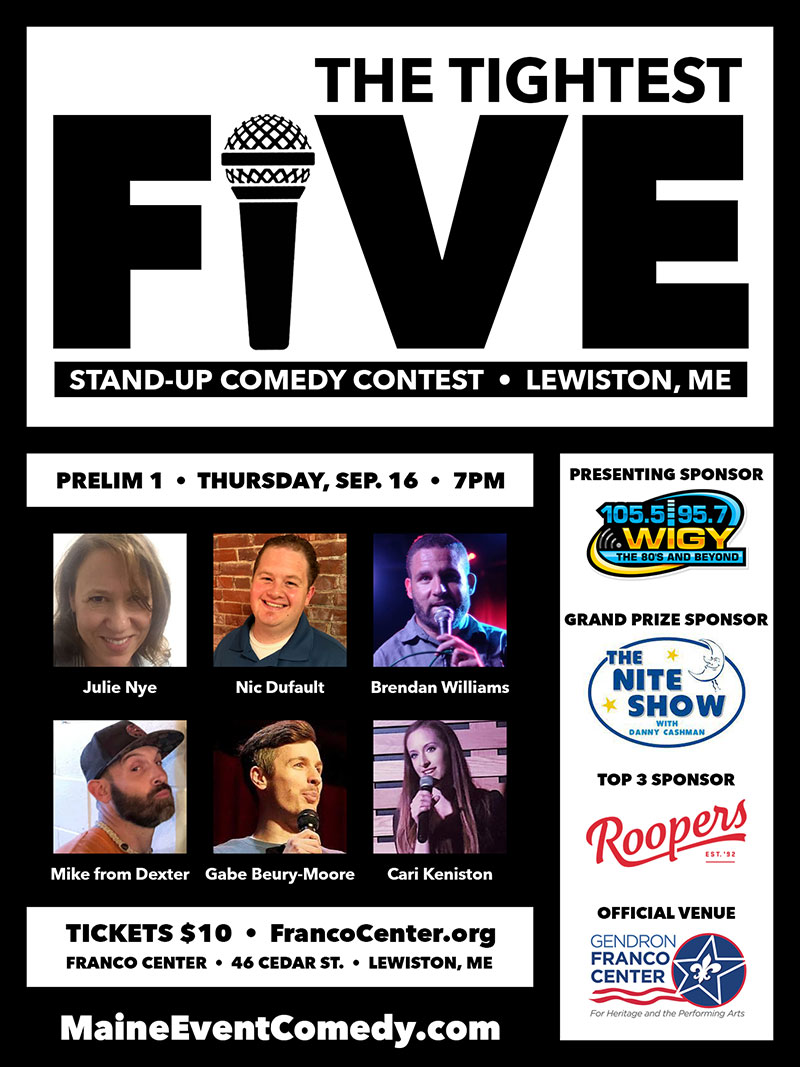 WIGY presents The Tightest Five stand-up comedy contest