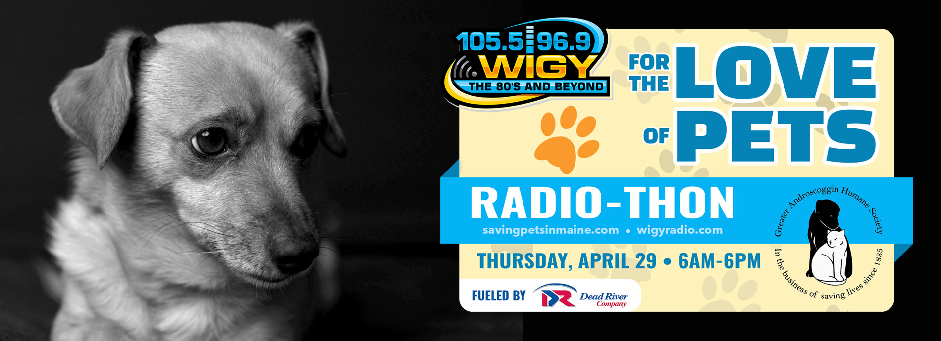 """WIGY's """"For the Love of Pets Radio-Thon"""" fueled by Dead River Company"""